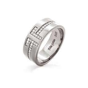My FF Silver 925 Φαρδύ Δαχτυλίδι-