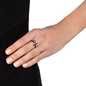 Acro Balance Silver 925 Black Flash Plated Ring-