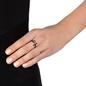 Acro Balance Silver 925 Black Flash Plated Ring -