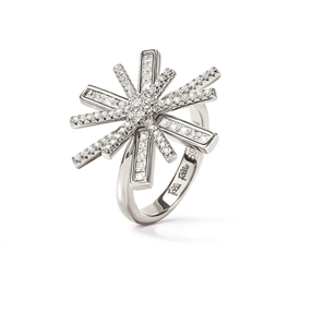Star Flower Silver 925 Ring-