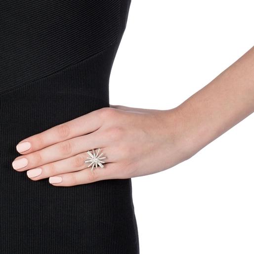 Star Flower Silver 925 Δαχτυλίδι-