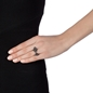 Heart4Heart Mati Black Flash Plated Ring -