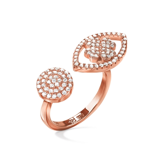 Heart4Heart Mati Rose Gold Plated Ring -