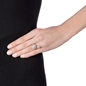 Star Flower Silver 925 Double Motif Ring -