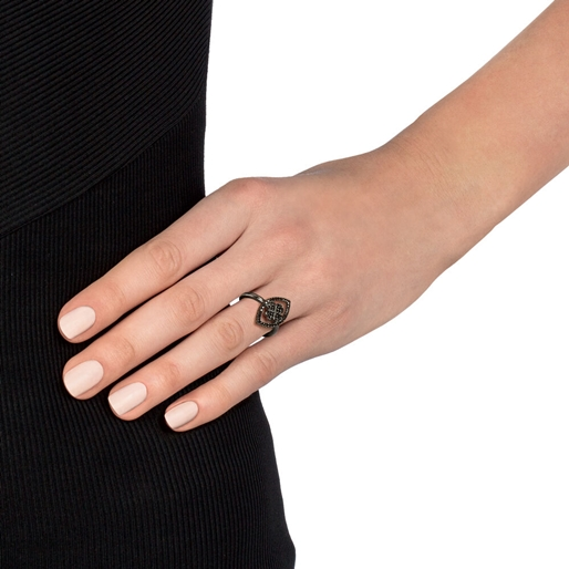 Heart4Heart Mati Black Flash Plated Δαχτυλίδι-