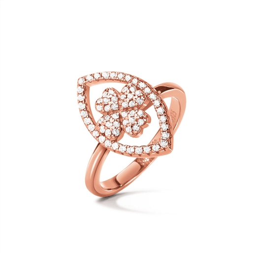 Heart4Heart Mati Rose Gold Plated Ring-