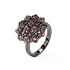 FF Bouquet Silver 925 Black Plated Small Ring