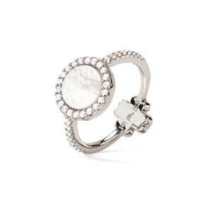 Heart4Heart Mirrors Silver 925 Rhodium Plated Two Sided Ring-