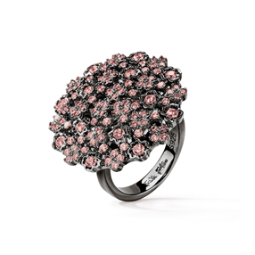 FF Bouquet Silver 925 Black Plated Medium Ring-