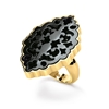 Desire Drops Yellow Gold Plated Ring