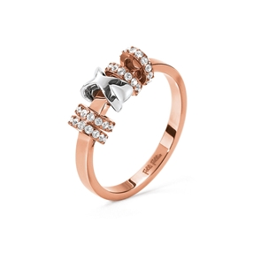 Love Memo Rose Gold Plated Ring-