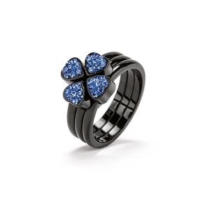 Heart4Heart Black Plated Set Ring-