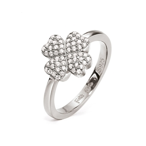 Heart4Heart Silver 925 Rhodium Plated Δαχτυλίδι-