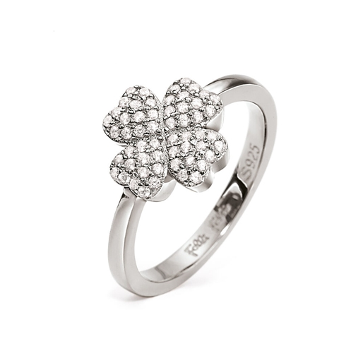 Heart4Heart Silver 925 Rhodium Plated Ring-