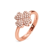Heart4Heart Silver 925 Rose Gold Plated Ring