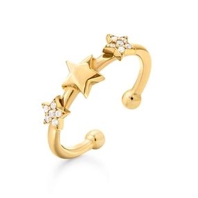 Wishing On Silver 925 18k Yellow Gold Plated Δαχτυλδι-