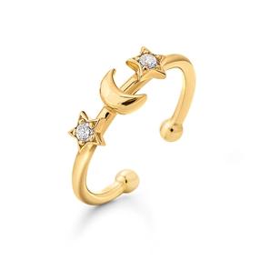 Wishing On Silver 925 18k Yellow Gold Plated Δαχτυλίδι-