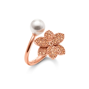 Blooming Grace Silver 925 18k Rose Gold Plated Δαχτυλίδι-