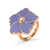 Bloom Bliss Rose Gold Plated Medium Motif Ring