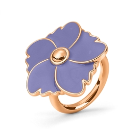 Bloom Bliss Rose Gold Plated Medium Motif Ring-