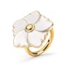 Bloom Bliss Yellow Gold Plated Μεσαίο Motif Δαχτυλίδι