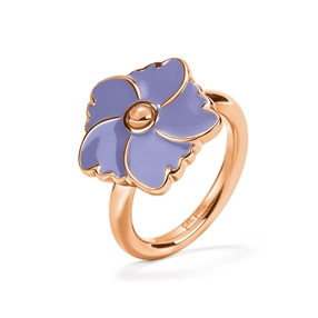 Bloom Bliss Rose Gold Plated Μικρό Motif Δαχτυλίδι-