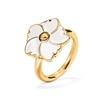 Bloom Bliss Yellow Gold Plated Μικρό Motif Δαχτυλίδι