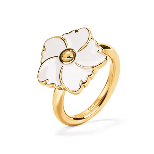 Bloom Bliss Yellow Gold Plated Small Motif Ring-