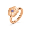 Bloom Bliss Rose Gold Plated Mini Motif Ring
