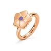 Bloom Bliss Rose Gold Plated Mini Motif Δαχτυλίδι