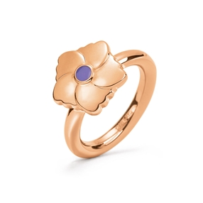Bloom Bliss Rose Gold Plated Mini Motif Δαχτυλίδι-