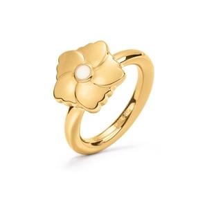 Bloom Bliss Yellow Gold Plated Mini Motif Δαχτυλίδι-