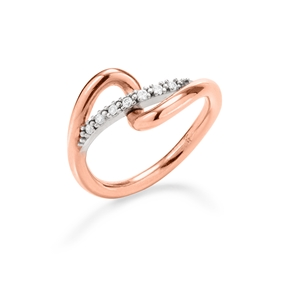 Fluidity 18k Rose Gold Plated Brass and Silver Plated Brass Ring-