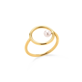 Link Up Silver 925 18k Yellow Gold Plated Mini Δαχτυλίδι-