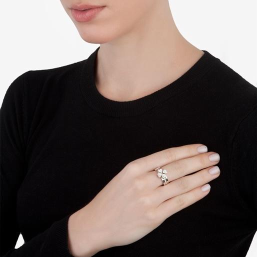 Heart4Heart Silver Plated Σετ Τριών Δαχτυλιδιών-