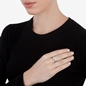 Heart4Heart Silver Plated Set Ring-