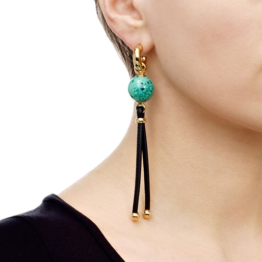 Cuban Dream Line Long Earrings-