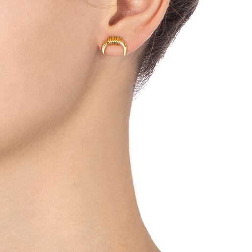 Desert Vibes Line Silver 925 18k Plated Stud Earrings-