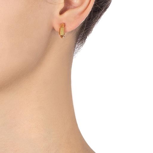 Desert Vibes Line Silver 925 18k Plated Small Hoops Earrings-