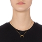 Desert Vibes Line Silver 925 18k Plated Short Necklace-