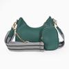 Boho Flair medium size pebbled crossbody bag with zipper