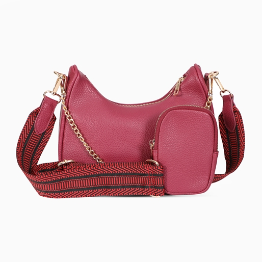 Boho Flair μεσαίου μεγέθους τσάντα  χιαστί με φερμουάρ-