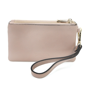 Mini Discoveries Small Leather Wristlet-