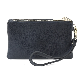 Mini Discoveries Small Leather Wristlet-