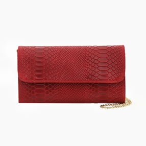 Girlfriend Medium Leather Clutch Bag-