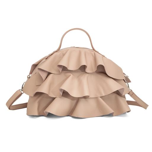 Volume Up Leather Handbag-