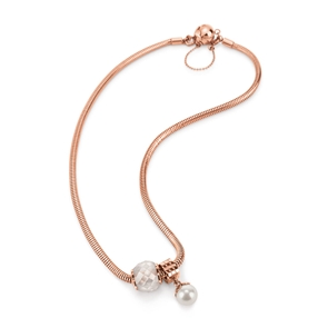 Playful Emotions Rose Gold Plated Hope Set Necklace-