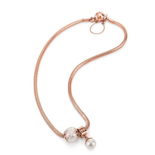 Playful Emotions Rose Gold Plated Hope Set Necklace -
