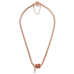Playful Emotions Rose Gold Plated Desire Set Necklace-