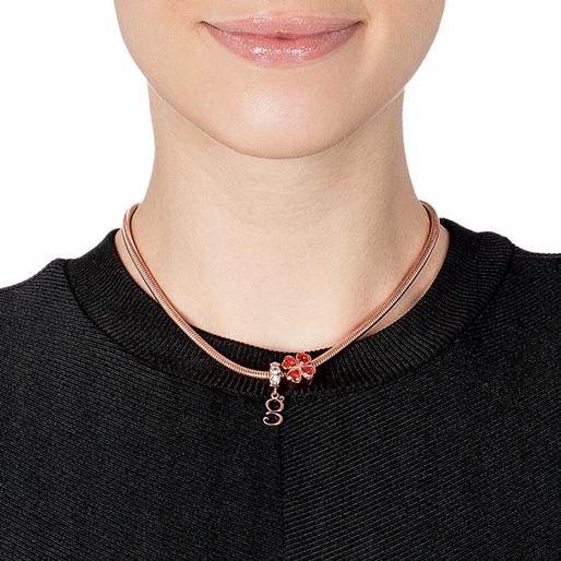Playful Emotions Rose Gold Plated Desire Set Necklace -